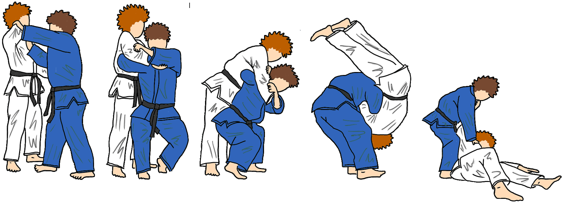 Morote-seoi-nage (beidhändiger Schulterwurf) 背負投